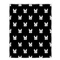 ingrosso camping coperta leggera-Doggy Print Black Super Soft Throw Blanket per Lettino da viaggio leggero da campeggio Tiro da campeggio per bambini Adulti Tutti i mari