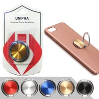 Wholesale metal spin online - Universal CD Spin Degree Finger Ring Mobile Metal Phone Holder For Magnetic Metal Holder Smartphone Stand Grip For iPhone XS Max XR