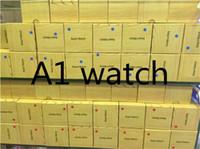 bajo precio de android al por mayor-A1 smartwatch Relojes inteligentes bajo precio Bluetooth usable hombres mujeres reloj inteligente móvil con cámara para teléfono inteligente Android Smartwatch cámara