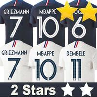 jerseys de fútbol de equipo para al por mayor-Francia camiseta de fútbol 2018 France soccer jerseys copa del mundo GRIEZMANN MBAPPE POGBA DEMBELE MARTIAL KANTE COMAN football Jersey de fútbol equipo nacional shirts 2018/19 top calidad tailandia