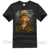 Wholesale van gogh prints - Self Portrait with a Grey Felt Hat T Shirt by Vincent Van Gogh Men's T-shirt