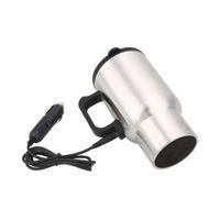 caneca elétrica do aquecimento venda por atacado-Caneca de Café do carro Bebidas Elétrica Aquecida Copo 450 ML Copo Térmico Isolado Caneca Chaleira 12 V