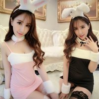 Wholesale sexy cosplay porn for sale - Hot Sexy Lingerie Porn Women Transparent Lace Sexy Costumes Sm Cosplay Rabbit Un
