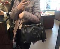 gümüş deri omuz çantası toptan satış-2018NEW Klasik Deri siyah altın gümüş zincir Ücretsiz kargo ÜST sıcak satmak Toptan perakende çanta çanta omuz çantaları bez çantalar # 78787