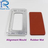 molde da tela do lcd do iphone venda por atacado-New lcd outer vidro laminador de tela molde para iphone x iphone 10 UV posicionamento de cola laminador de alinhamento molde de metal + mat substituição