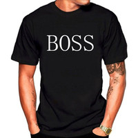 Wholesale Wholesale Quality Shirts - European and American wind BOSS printing round neck loose cotton short high quality sleeves men's T-shirt.