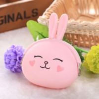 petit sac à main achat en gros de-NIBESSER New Fashion Coin Purse Belle Kawaii Cartoon Lapin Pouch Femmes Filles Petit Portefeuille Doux Silicone Coin Sac Enfant Cadeau