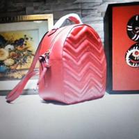 orijinal inek derisi el çantaları toptan satış-Yüksekliği kaliteli Marmont Sırt Çantası Tasarımcı Sırt Çantası Lüks Çanta Ünlü Markaların çanta Gerçek Orijinal Dana Hakiki Deri Lüks Sırt Çantası