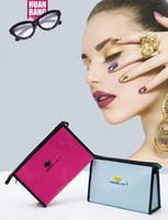 bolsos de moda corea al por mayor-Moda para siempre amor mujeres bolsa de Cosméticos de Corea pequeño almacenamiento a prueba de agua femenino bolso de embrague portátil de dibujos animados de viaje bolsa de maquillaje bolsa de lavado