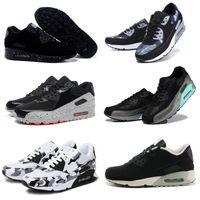 Wholesale Korean Summer Shoes Men - 2018 new Summer breathable sneakers Korean running shoes air cushion 90 shoes men Women shoes US 36-46