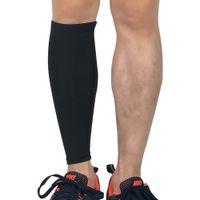 ingrosso guardia shin nero-Calf Compression Leg Sleeve Shin Guard Calze di supporto per corsa in bicicletta Escursionismo Badminton Calcio Taglia L (Nero)