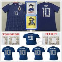Wholesale cartoon xxl - Cartoon Number 2018 World Cup Japan Soccer Jersey Captain TSUBASA 10 OLIVER ATOM KAGAWA ENDO 9 HYUGA NAGATOMO KAMAMOTO Custom Football Shirt