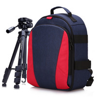 Wholesale waterproof camera case for sale - Photo Camera Video DSLR Waterproof Shoulders Soft Padded Small Backpack Tripod Travel Laptop Case Bag for Canon Nikon Sony SLR