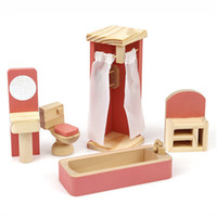 Wholesale beautiful toys for girls online - Beautiful And Cute Doll House Set Pretend Play Furniture Set Classic Kids Toy Gift For Girl