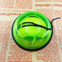 kraft spielzeug großhandel-LED Handgelenk Power Ball Roller mit Gurt Gyroskop Kraftverstärker Hand Ball Handgelenk Übung Kreatives Spielzeug Mit Kleinverpackung
