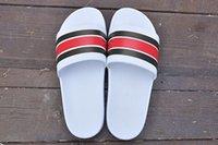 ingrosso sandali estivi donna europee-Sandali di lusso Moda Europa Marca Uomo Donna Pantofole a righe Estate pantofole Huaraches vibrazione all'ingrosso