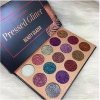 pigment makyajı sıcak satış toptan satış-Dropshpping Sıcak satış Güzellik Sırlı Yüz Makyaj Göz Farı Paletleri 15 Renk Glitter Pırıltılı Göz farı Pigment