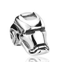 einzigartige schädelringe großhandel-Dropshipping Big Motor Biker Schädel Ring Für Mann Edelstahl Einzigartige Punk Männer Coole Vintage Schmuck Iron Man Ring
