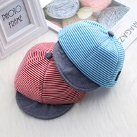 Baby Boy Autumn Hats Striped Soft Cotton Eaves Baseball Cap Sun Hat Beret Sunhat