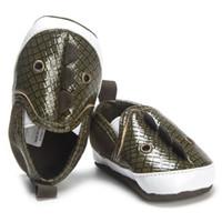 magasin de bébé chaussures achat en gros de-2018 nouvelle mode nouveau-né bambin bébés garçons serpent nageoire dessin animé premiers marcheurs semelle souple chaussures de loisirs drop shopping oct02
