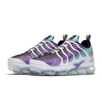 Wholesale grape boxes - 2018 New Vapormax Plus TN VM Run in Metallic Grape Mens Designer Sports Running Shoes for Men Sneakers Women Luxury Brand Casual Trainers