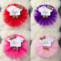Wholesale baby first birthday clothing online - It s My First st Birthday Outfits Baby Girl Birthday Tutu Skirt Set For Kid Clothing Set Summer Wear