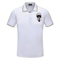 Wholesale fiber clothing - Fashion Designer Luxury Brand Tag Clothing Men Fabric Letter Polo T-shirt Turn-down Collar Casual Women Tshirt Tee Polo Shirt Size M-3XL