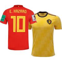 ingrosso belgium jersey di calcio-2018 World Cup Belgio Home Away Futbol Camisa Soccer Maglie Calcio Camisetas Kit camicia Maillot
