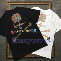 Wholesale japan printed t shirt men - 2018 hotselling Mastermind Japan MMJ Runway tee Skull printing T shirt Men Cotton T shirts tees Hiphop Streetwear Men Short Sleeve T shirt