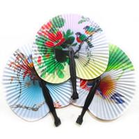 décoration d'événements de mariage chinois achat en gros de-21 pcs / lot Été Chinois style Papier Main Fan Event Party Fournitures Décoration de Mariage facile à transporter Livraison gratuite