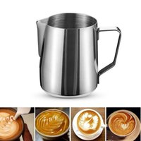 Wholesale pitcher filters for sale - Group buy New Stainless Steel Frothing Pitcher Pull Flower Cup ML ML Garland Cup Mug Milk Coffee Cappuccino Cooking Tools