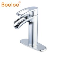Wholesale nickel basin - Bathroom Faucet with Deck Plate Basin Mixer Faucet Solid Brass Sink Vessel Tap,Finshed Chrome Brushed Nickel