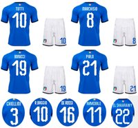 Wholesale Sport Traning - 2018 Italians Soccer Jerseys TOTTI BONUCCI PIRLO BAGGIO INSIGNE Football Uniform Adult Thai Quality Soccer Sets Athletic Sports Traning Kits