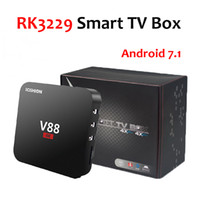 Wholesale usb 1g online - V88 K Android TV Box Rockchip RK3229 G G Quad Core HD USB K H bit fps WiFi Media Player WIFI Internet Set Top Box