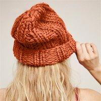 ingrosso lana a maglia britannica-Cappello da donna New York e America cappello moda semplice in lana cappello moda inglese autunno e inverno