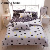 Wholesale queen size beddings online - Batman Black White Color Cartoon Bedding Set Duvet Cover Bed Sheet Bedclothes Twin Full Queen King Size Beddings For Kids