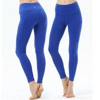 medias deportivas leggings al por mayor-Pantalones de yoga Leggings Mallas para correr Ropa atlética Deporte Gimnasio Pantalones de fitness Ropa deportiva de secado rápido para mujeres