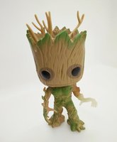 guardiões filme galáxia venda por atacado-Funko Pop luminado Groot galáxia guardião noctilucence homem árvore Anime Movie Collection Action Figure Model