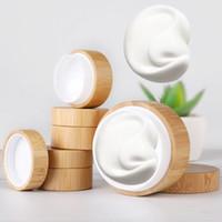 tırnak maskeleri toptan satış-5g 10g Yüksek Qualtiy Bambu Şişe Krem Kavanoz Nail Art Maske Krem Doldurulabilir Boş Kozmetik Makyaj Konteyner Şişe