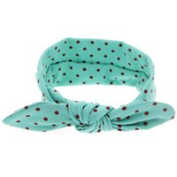 Wholesale orange accessories for baby girl for sale - New fashion hair accessories head bands for baby girls cute bunny dot acessorios diademas pelo kinderkleding meisjes