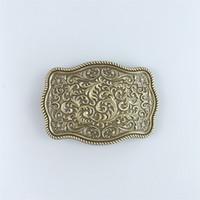 Wholesale bronze western belt buckles resale online - Men Belt Buckle New Classic Vintage Bronze Plated Western Flower Pattern Rectangle Belt Buckle