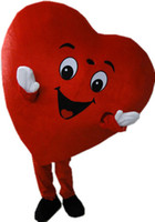 yetişkin kalp kostümü toptan satış-Yetişkin Kırmızı Kalp Maskot Kostüm Fantezi Kalp Maskot Kostüm Düğün Giyim