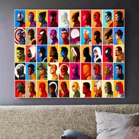 Marvel poster 1PCS printed canvas print painting Marvel Superheroes Home  Decor Wall art Pictures For Living Room No Frame F1780