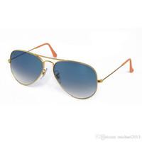Wholesale light brown frame glasses - Soscar Pilot Sunglasses Light Grey Gradient Lenses Metal Frame Classic Brand Designer Sunglasses for Men Women 003 32 58mm Free Shipping