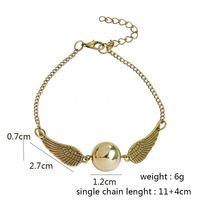 Wholesale Antique Golden - New Fashion Vintage Woman Lady Silver antique Wing Harry Gold Golden Snitchbracelet &Pendants The Deathly Hallows Snitch Gold bracelet