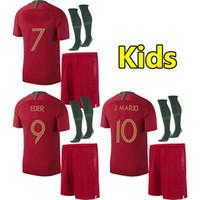 Wholesale football babies - 2018 Kids soccer jersey world cup ANDRE SILVA children football shirt J MOUTINHO Camisa de futebol QUARESMA baby maillot