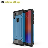 Wholesale Hybrid Rugged skin Case For Moto One P30 Play Power Note E5 Play Go G6 Plus For LG G7 ThinQ K10 V40 Shock proof Hard Armor Rubber cover