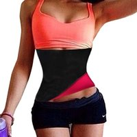 Wholesale Red Burner - Neoprene Waist Trainer Corsets Plus Size Slimming Belt Body Shaper Waist Cincher Fitness Belt Workout Tummy Fat Burner Girdles