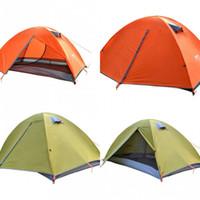 set de camping carpa al por mayor-2 colores que acampan los juegos de la carpa de la doble cubierta Protección contra la tormenta de lluvia Refugios de campo multifuncionales Trajes al aire libre Parasol Herramienta 105ty X