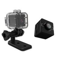 Wholesale car night resale online - SQ12 Mini Camera with Shell HD P Mini Camcorder Car DVR Motion DV Recorder Night Vision Video Micro Camera Mini cpy cam DHL